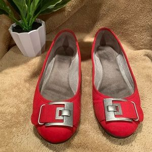 Red flats - size 8